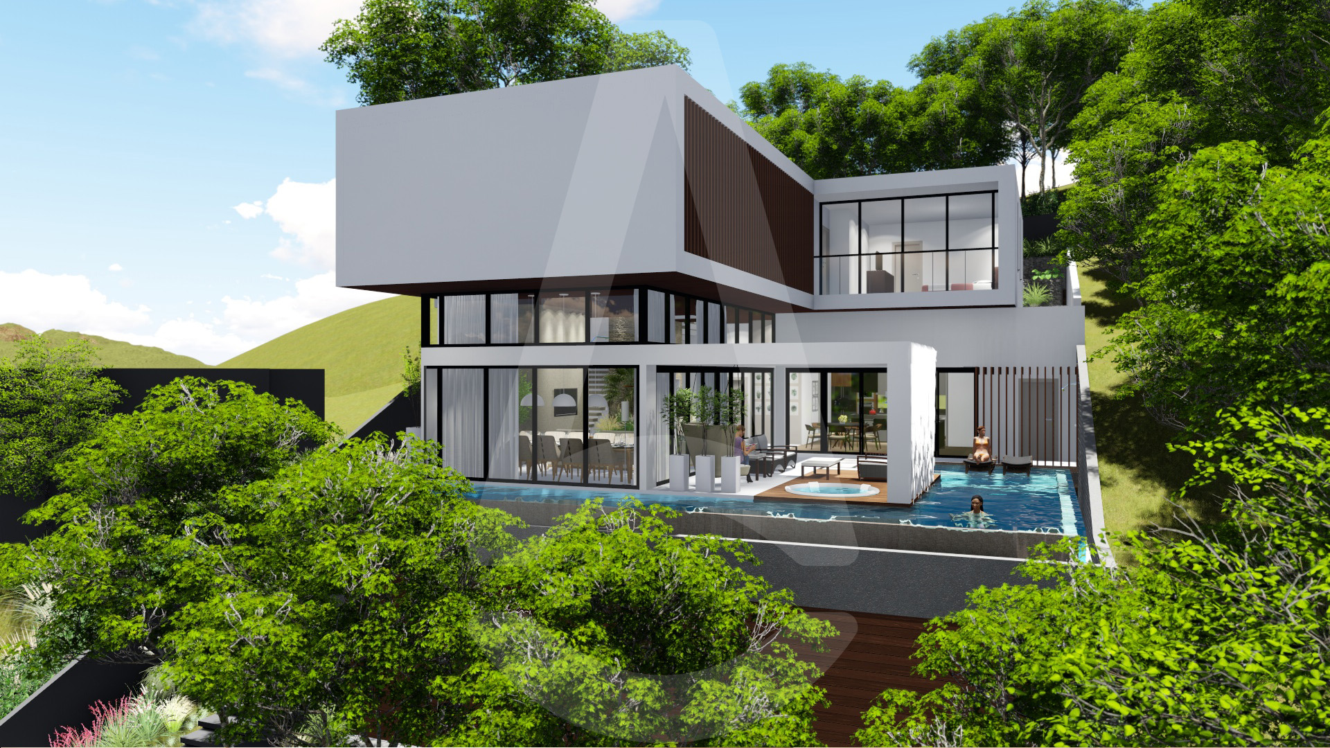 Fachada do projeto residencial em Joinville